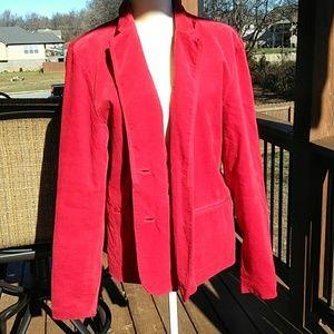 Vintage Bill Blass Red Velvet Blazer